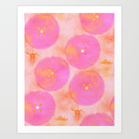 JUICY FUCHSIA Art Print by Je Suis un Lapin | Society6