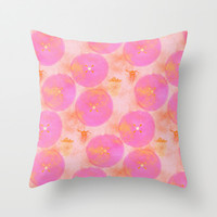 JUICY FUCHSIA  Throw Pillow by Je Suis un Lapin