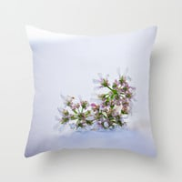 Coriander flower  Throw Pillow by Light Wanderer