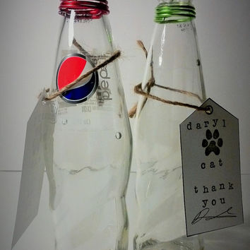 Incense Bottle, Bright & Colorful, Pepsi, Upcycled, Ecofriendly