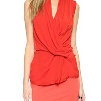 Helmut Lang Silk Wrap Top