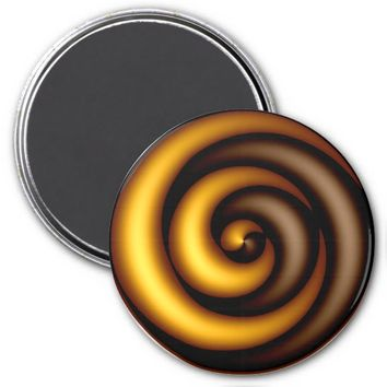 Spinning Golden Brown Refrigerator Magnet