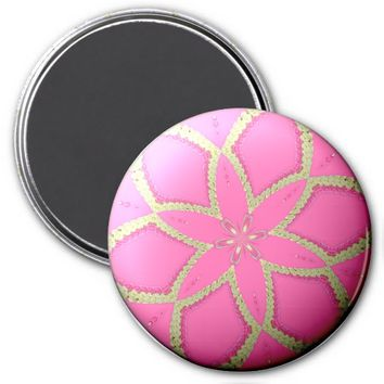 Flower Button Pink 2 Refrigerator Magnet