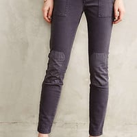 Pilcro Patched Moto Leggings Dark Grey