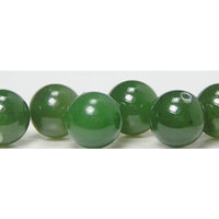 6 Nephrite Jade Natural Half Drilled Spheres Balls Beads semi precious stone