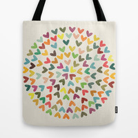 Love is all a round Tote Bag by Budi Satria Kwan