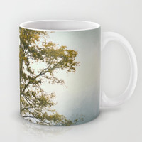 Bleached Sage Green Cotton Field Tree - Landscape  Mug by Jai Johnson
