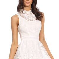 FINAL FANTASY PLAYSUIT - white lace playsuit