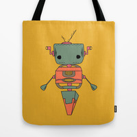 Random Robot Tote Bag by Ashley