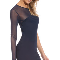 GIVE ME EVERYTHING DRESS - navy blue bodycon dress