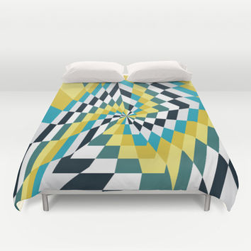 Abstract Angles 2 Duvet Cover by Ashley