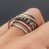 dream ring, hand made, sterling silver,modernist