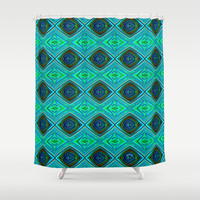 Aqua Shower Curtain by gretzky | Society6