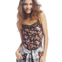 Crinkle Lace Trim Cami | Wet Seal