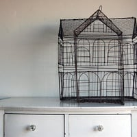 Primitive Colonial House Birdcage by BoldSparrowVintage on Etsy