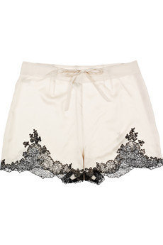 Carine Gilson|Egrie silk-satin shorts|NET-A-PORTER.COM
