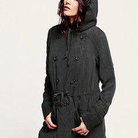 Free People Hooded Tencel with Knit Jacket