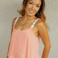 Dots and Daisies Tank (Peach)