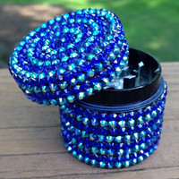 GRINDER -- MINIS Collection -- Iridescent Blue Stripes