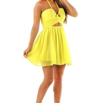 Be-You-Tiful Dress: Chartreuse