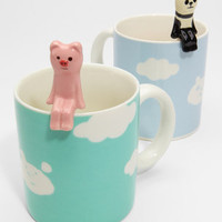 FredFlare.com - Cloud Mug With Animal Spoon - Shop Japanese Novelties