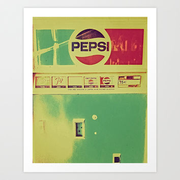 Say Pepsi! Art Print by DuckyB (Brandi)