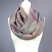 Snood scarf, Dusty rose scarf, infinity scarf, loop scarf, fall scarf, pashmina by Nursing Time