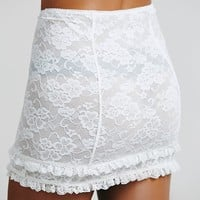 Intimately Womens Scandalous Lace Mini - Ivory,