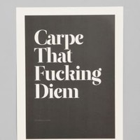 UrbanOutfitters.com &gt; Wordboner for Society6 Carpe Art Print
