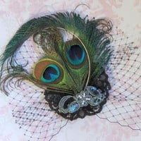 Peacock Feather Fascinator. | Luulla
