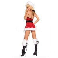 Cosplay Costumes Red White Black Fur Santa Sexy Christmas Costume [TSY111116044] - &amp;#36;26.99