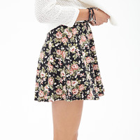 Clustered Rose Skater Skirt