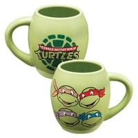 Vandor 38062 Teenage Mutant Ninja Turtles Oval Ceramic Mug, 18-Ounce, Green