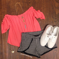 Loraine Top - Coral