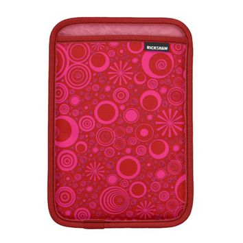 Rounds, Pink-Red iPad Mini Sleeve Vertical