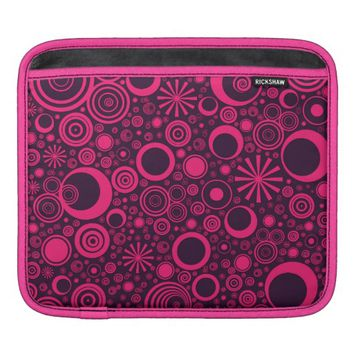 Rounds, Pink-Purple iPad Sleeve Horizontal