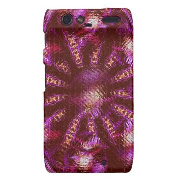 Abstract Shimmer Me Purple-Motorola Droid Razr