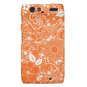 Botanical Beauties Orange Motorola Droid Razr