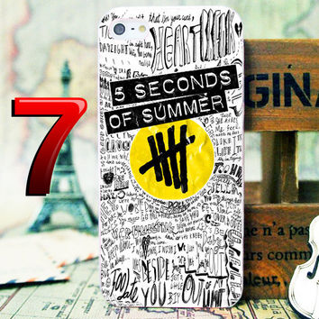 5SOS White Logo Collage Phone Case For iPhone 4 4s 5 5s 5c iPod 2 iPod 4 iPod 5 Samsung Galaxy  s3/s4/s5