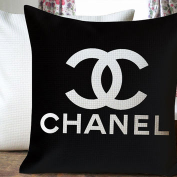 Chanel Black Design Beautiful Cover for  Pillow Cover 18 x 18 inches
