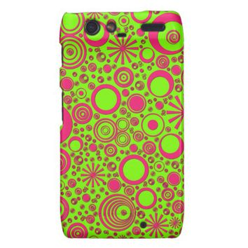 Rounds, Pink-Green Motorola Droid Razr Case