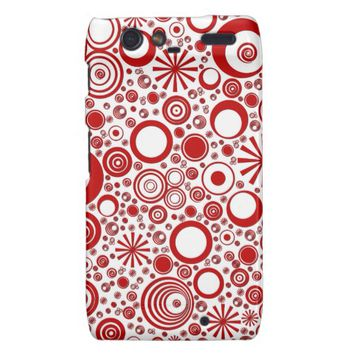 Rounds, Red-White Motorola Droid Razr Case