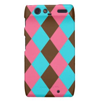 Harlequin, Chocolate Pastel Droid Razr Case