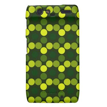 Seeing Dots Lemon Lime DROID RAZR CASE