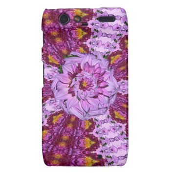 Twisted Dahlia Flower Droid Razr Case