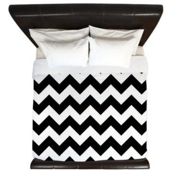 Black And White King Duvet> Black And White Chevron> KCavender Home Goods