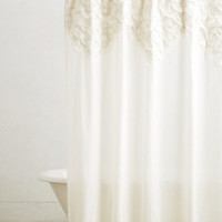 Scallop-Sequence Shower Curtain