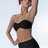Bel Air Bandeau Retro Skirted from Molly Browns Swimwear, Newport Beach, CA