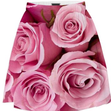 Pink Roses Summer Skirt created by ErikaKaisersot | Print All Over Me