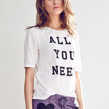 Graphic Drop Sleeve Tee - Victoria's Secret